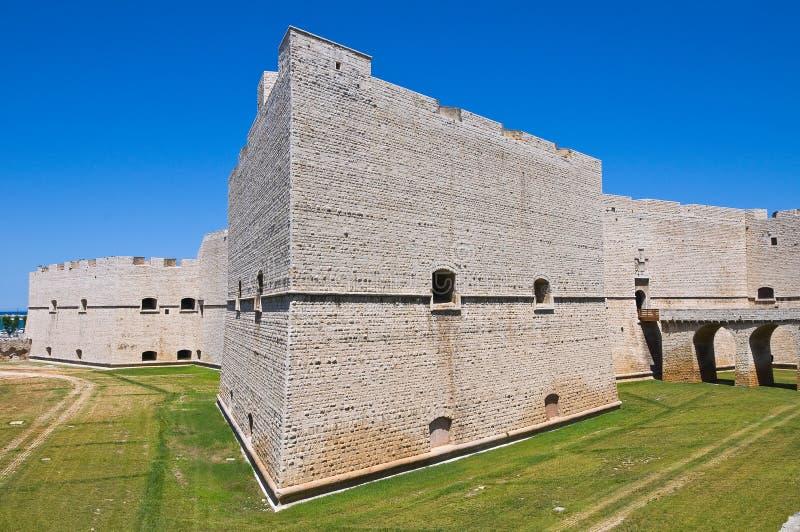 Château de Barletta. La Puglia. l'Italie. photographie stock libre de droits