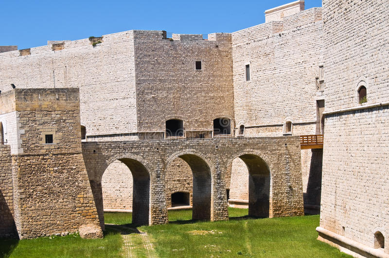 Château de Barletta La Puglia l'Italie photo stock