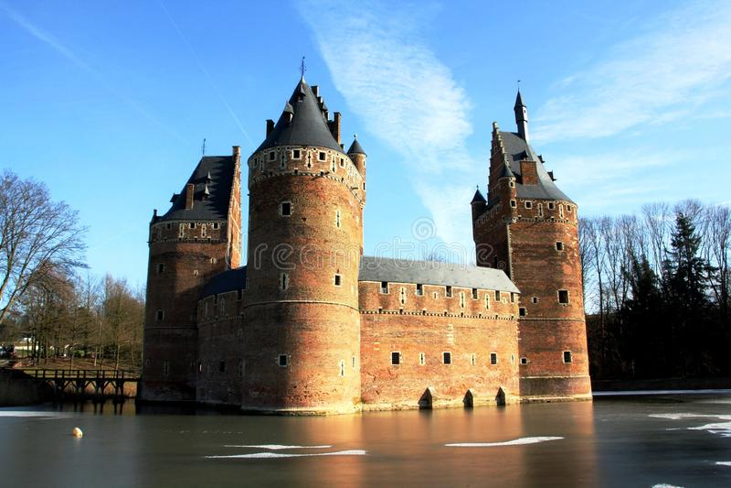 Château de Beersel (Belgique) images libres de droits