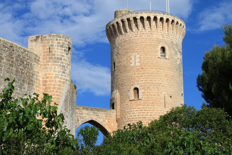 Château de Bellver en Palma de Mallorca photo libre de droits