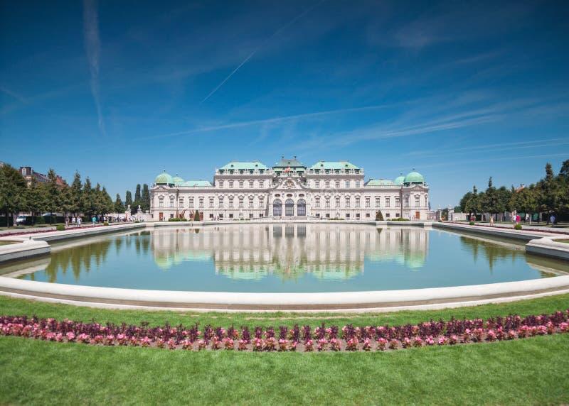 Château de belvédère à Vienne photographie stock libre de droits