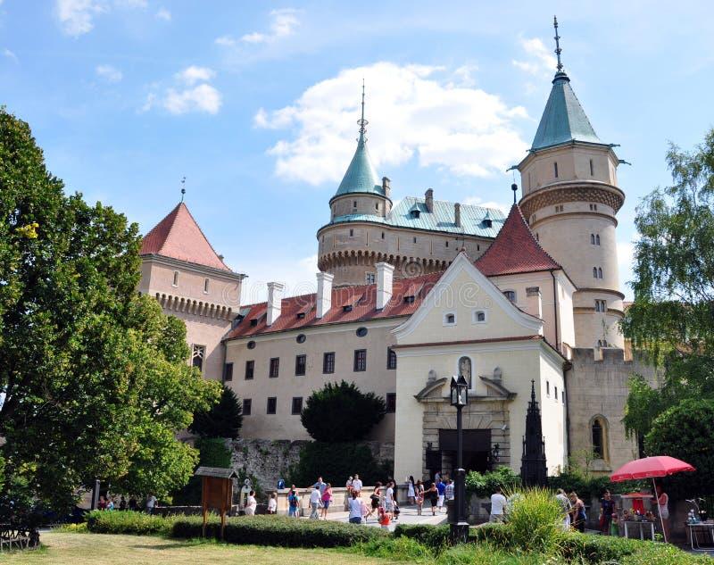 Château de Bojnice, Slovaquie, l'Europe images libres de droits