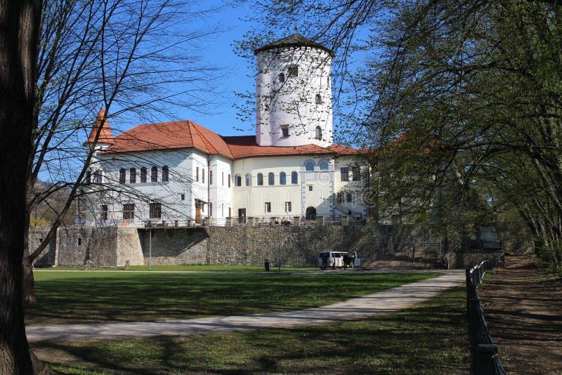 Château de BudatÃn, région d'ilina de ½ de Å photographie stock