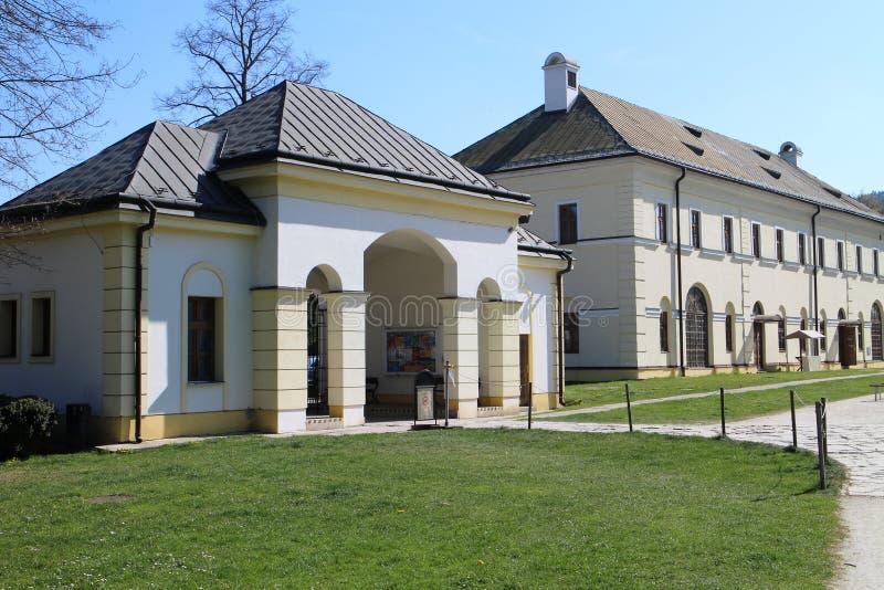 Château de BudatÃn, région d'ilina de ½ de Å photographie stock libre de droits
