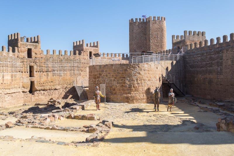 Château de Burgalimar, Al-Hamma d'enfouissement, village d'encina de La de Baños De, J photo libre de droits
