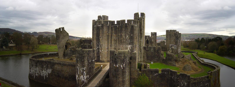 Château de Caerphilly image libre de droits