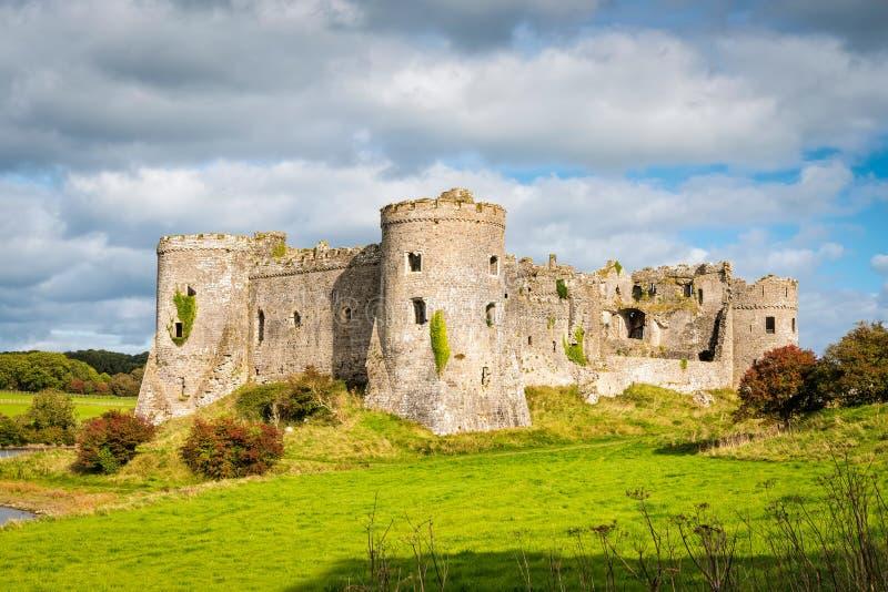 Château de Carew au Pays de Galles photo stock