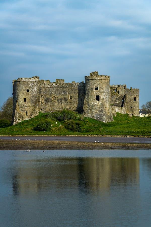 Château de Carew dans Pembrokeshire Pays de Galles photo stock
