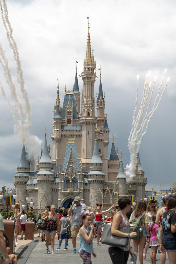 Château de Cendrillon - Magic Kingdom - Walt Disney World - Orlando Florida Juillet 2019 image libre de droits