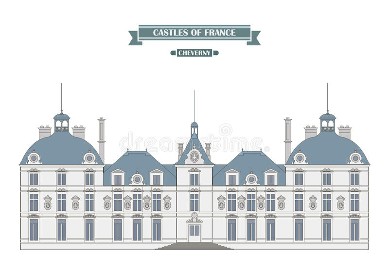 Château de Cheverny, France illustration de vecteur