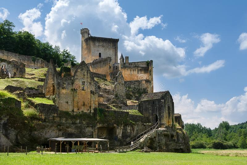 Château de Commarque dans le Perigord noir dans les Frances photographie stock