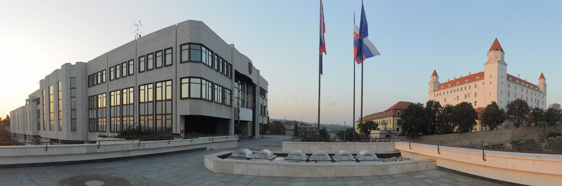 Château de Conseil National et de Bratislava images libres de droits