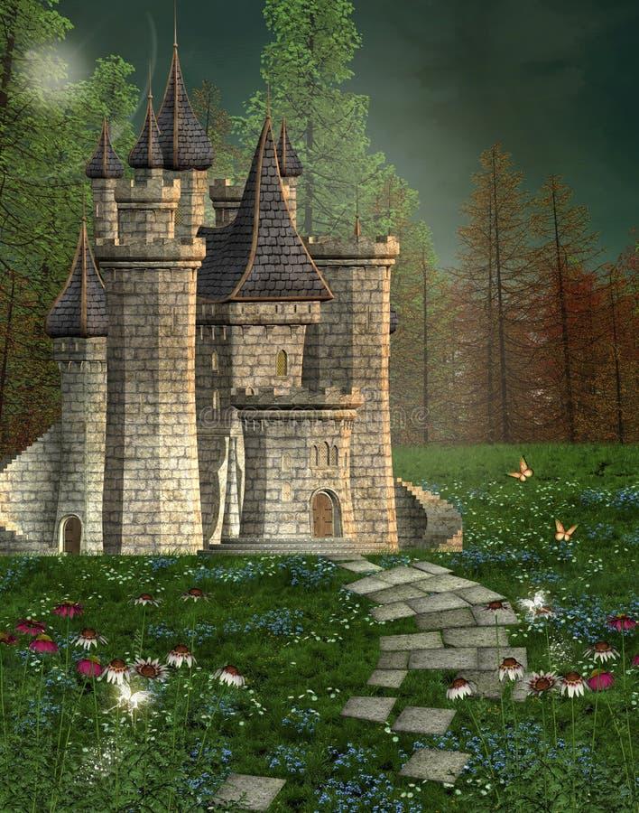 Château de conte de fées illustration stock