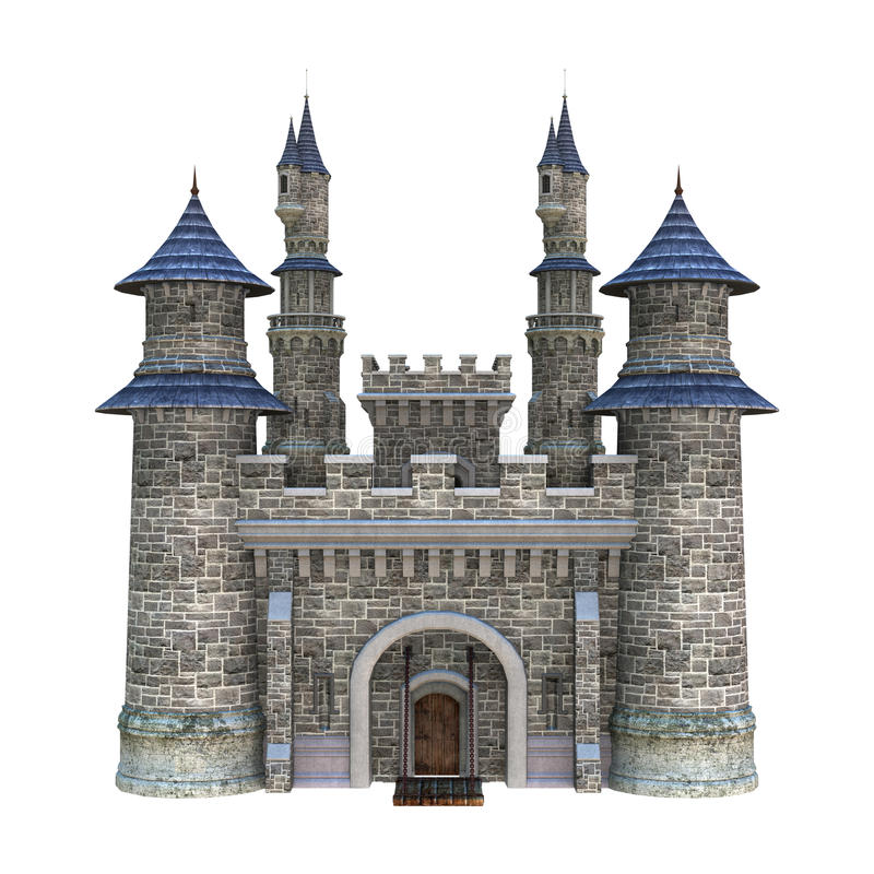 Château de conte de fées illustration de vecteur