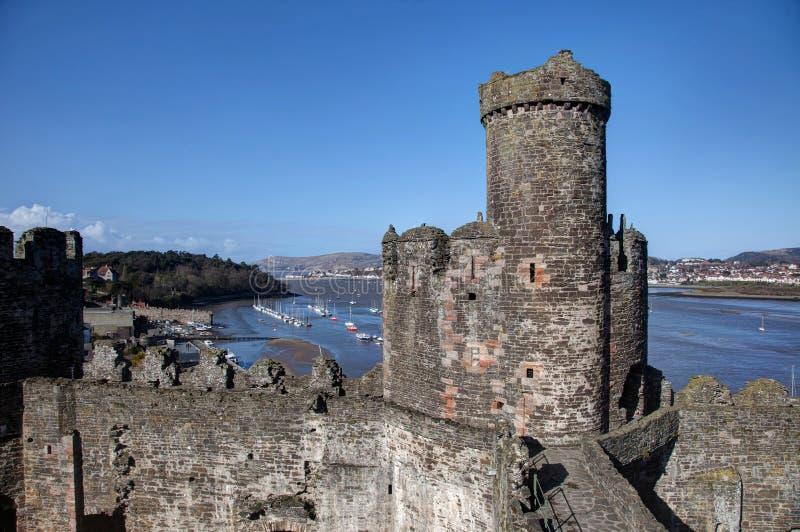 Château de Conwy photographie stock