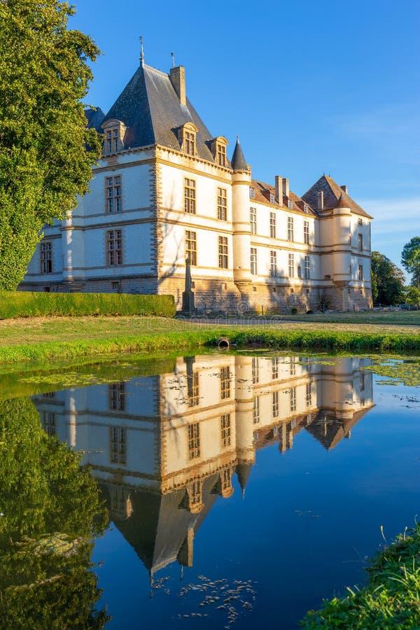 Château de Cormatin en Bourgogne, France photographie stock libre de droits