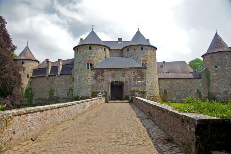 Château de Corroy-le-Château (vue de face) photo libre de droits