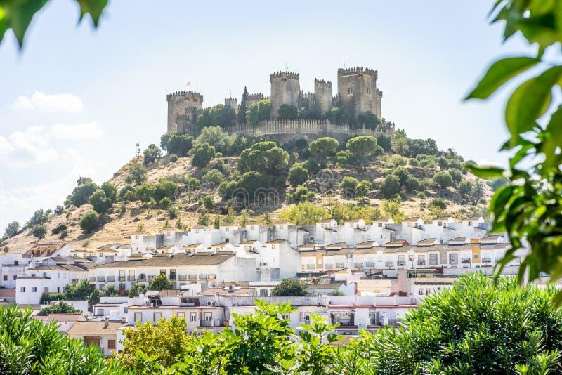Château de del Rio, Andalousie, Espagne d'Almodovar photographie stock