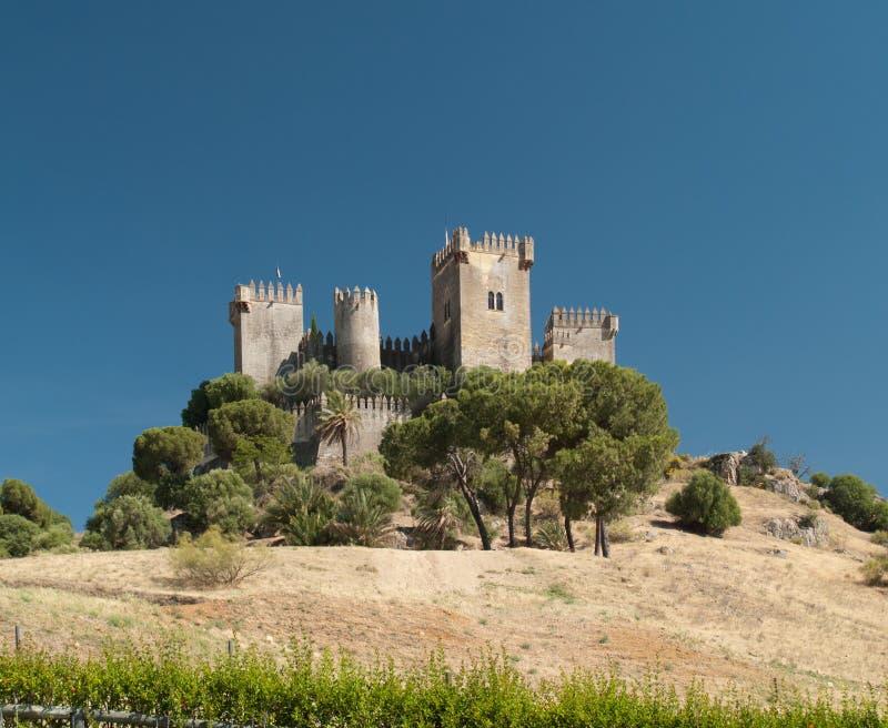 Château de del Rio d'Almodovar photographie stock libre de droits