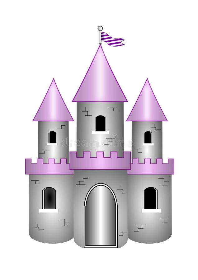 Château de dessin animé illustration libre de droits