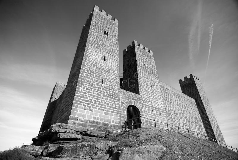 Château de dessous photo stock