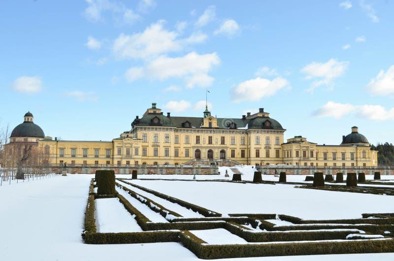 Château de Drottningholms à Stockholm - en Suède images libres de droits
