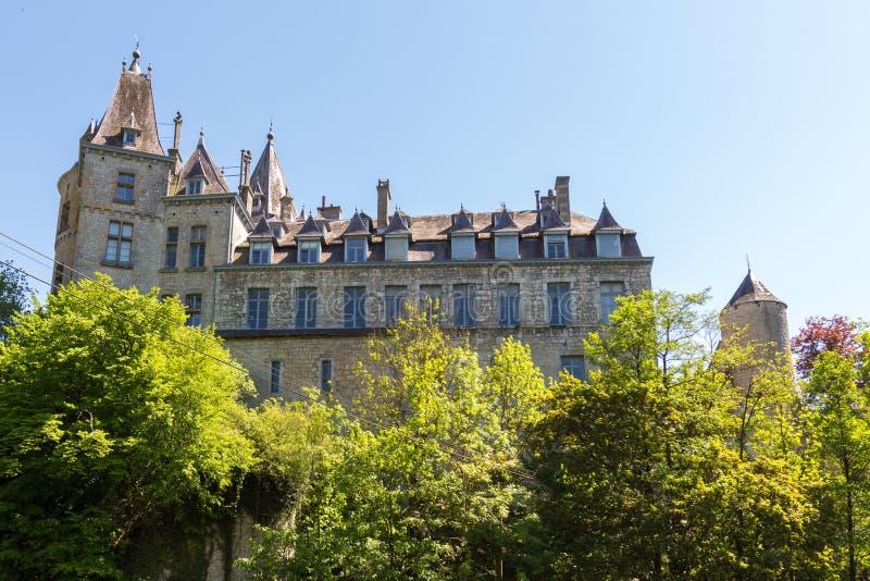 Château de Durbuy de vue de côté image libre de droits