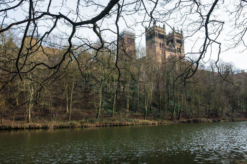 Château de Durham et cathédrale et l'usage de rivière, Angleterre, R-U photos libres de droits