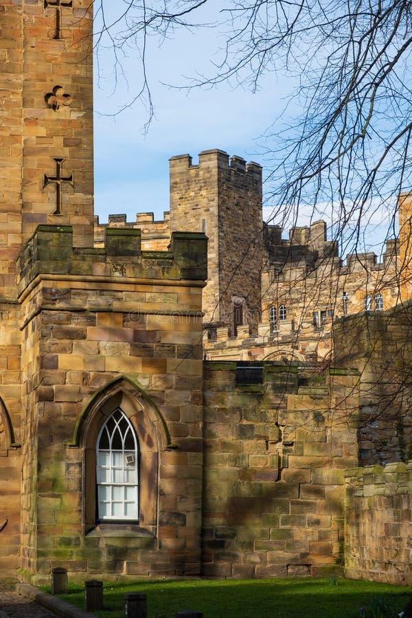 Château de Durham, château normand dans la ville de Durham, Angleterre photographie stock libre de droits