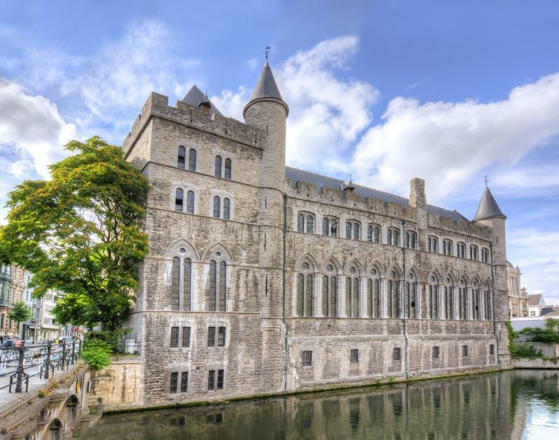 Château de Gérald le diable Geeraard de Duivelsteen, monsieur, Belgique images libres de droits