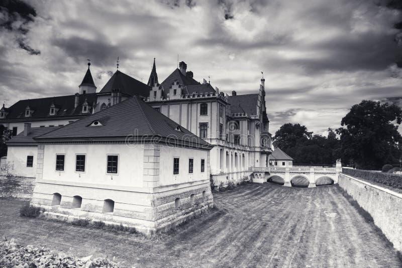 Château de Grafenegg dans le secteur de terre de Krems de la Basse Autriche images libres de droits