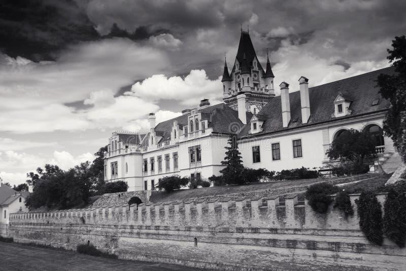 Château de Grafenegg dans le secteur de terre de Krems de la Basse Autriche image libre de droits