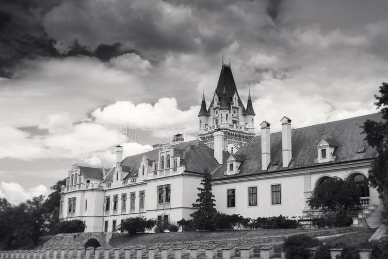 Château de Grafenegg dans le secteur de terre de Krems de la Basse Autriche photographie stock libre de droits