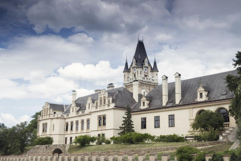 Château de Grafenegg dans le secteur de terre de Krems de la Basse Autriche photographie stock