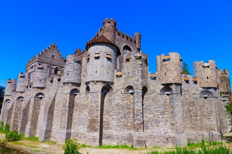 Château de Gravensteen. Monsieur, Belgique photos libres de droits