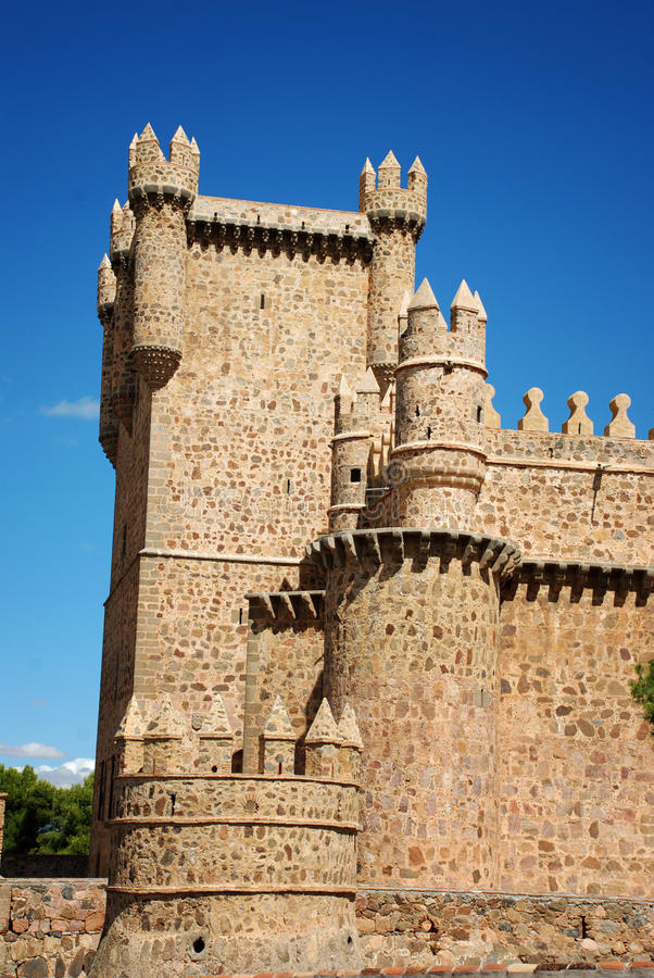 Château de Guadamur à Toledo, Espagne image libre de droits