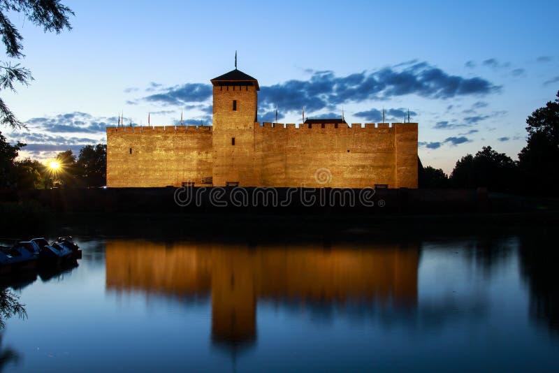 Château de Gyula en Hongrie du sud images libres de droits
