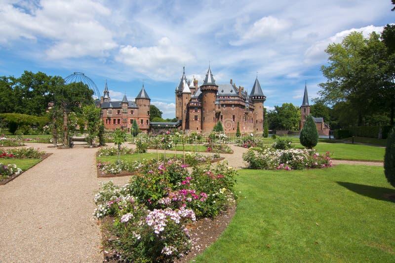 Château de De Haar près d'Utrecht, Pays-Bas photo libre de droits