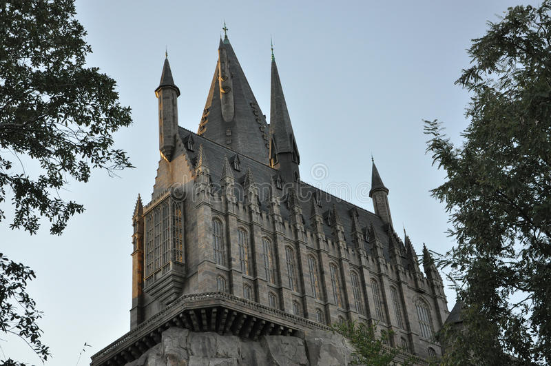 Château de Harry Potter à Orlando universel photos libres de droits