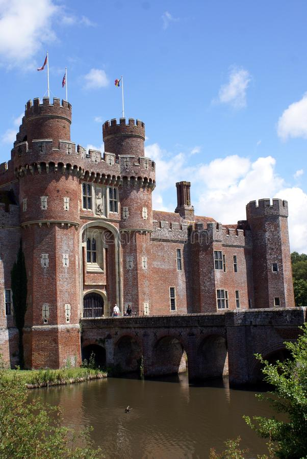 Château de Herstmonceux, le Sussex est, Angleterre photos libres de droits