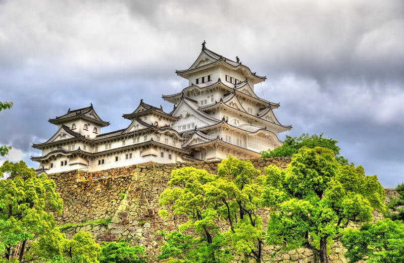 Château de Himeji au Japon photos libres de droits