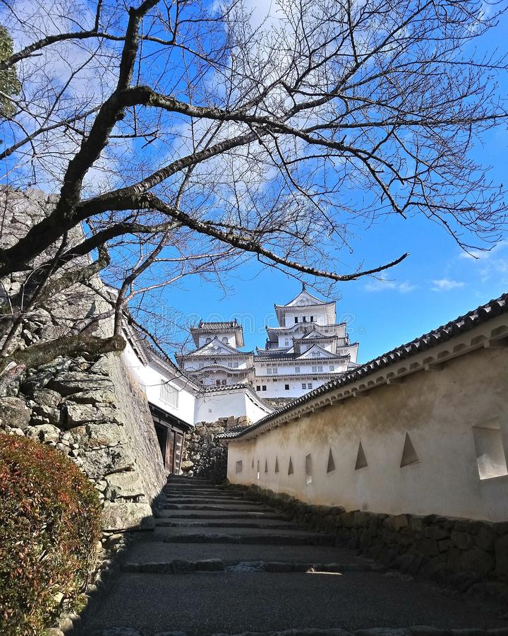 Château de Himeji, magnifiquement situé image libre de droits
