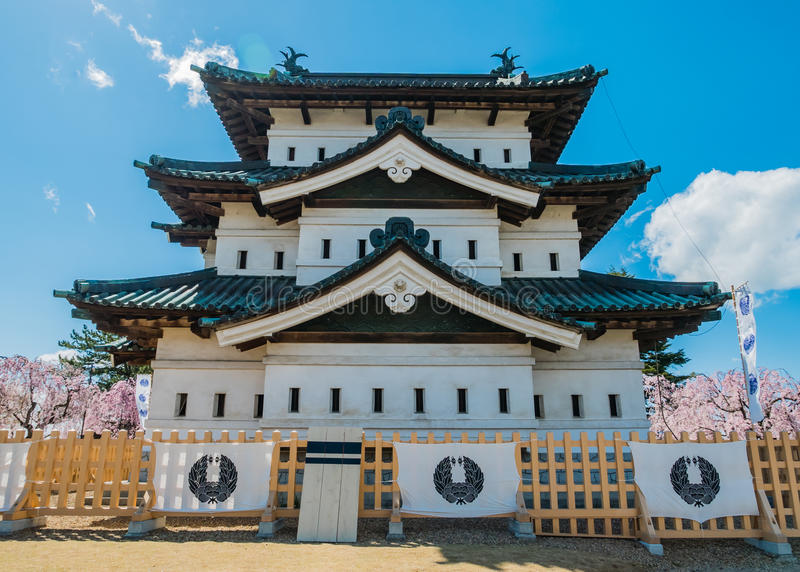 Download Château de Hirosaki image stock éditorial. Image du étang - 76089409