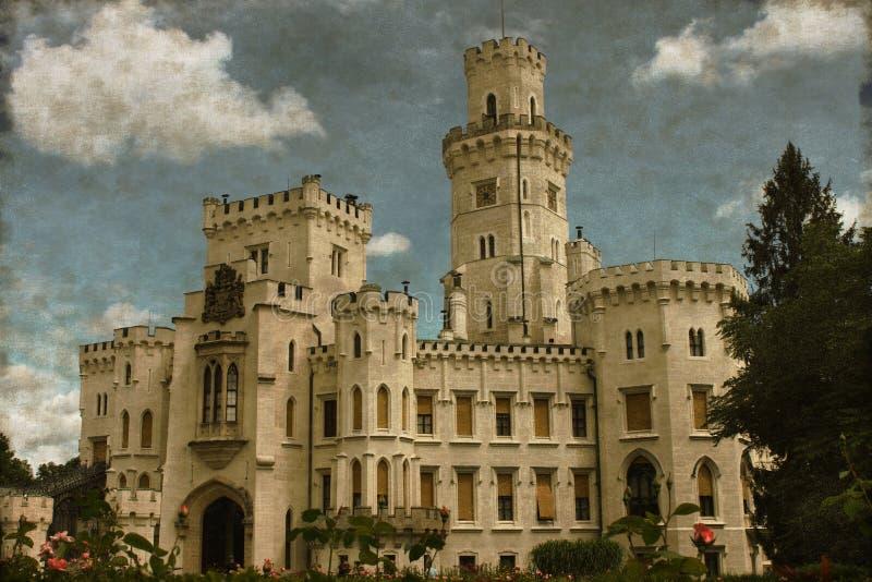 Château de Hluboka - vintage photographie stock libre de droits