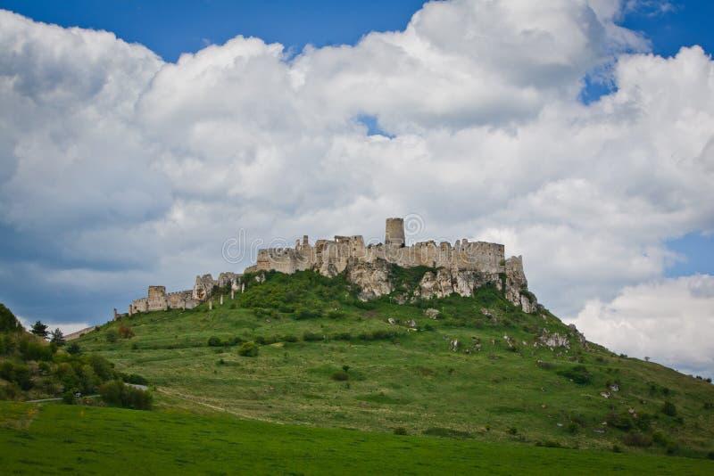 Château de hrad de Spissky en Slovaquie, photos stock