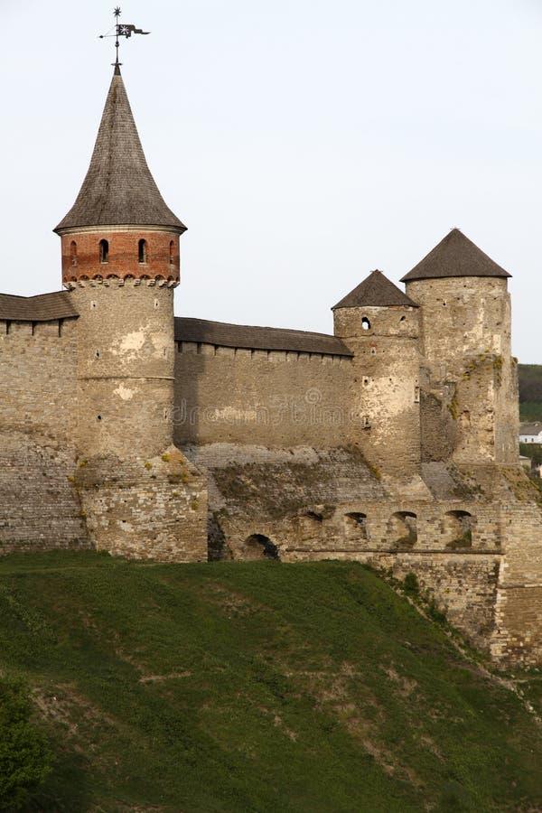 Château de Kamianets-Podilskyi photographie stock