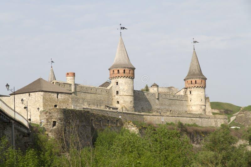 Château de Kamianets-Podilskyi, Ukraine photographie stock libre de droits