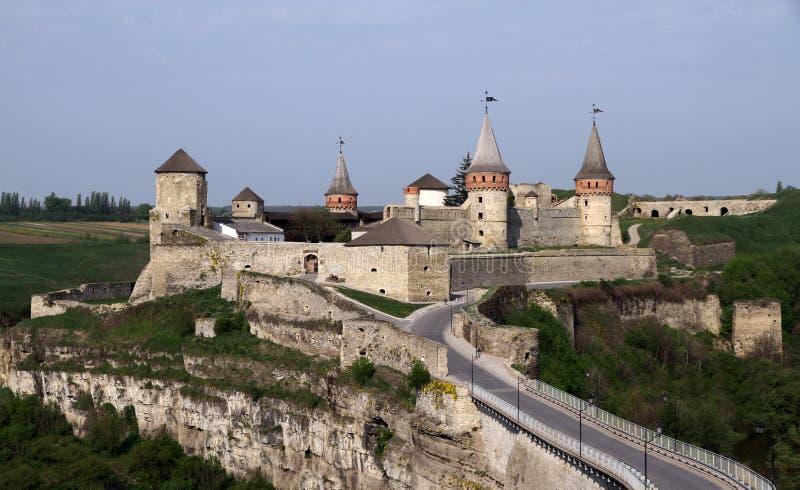 Château de Kamianets-Podilskyi, Ukraine image stock