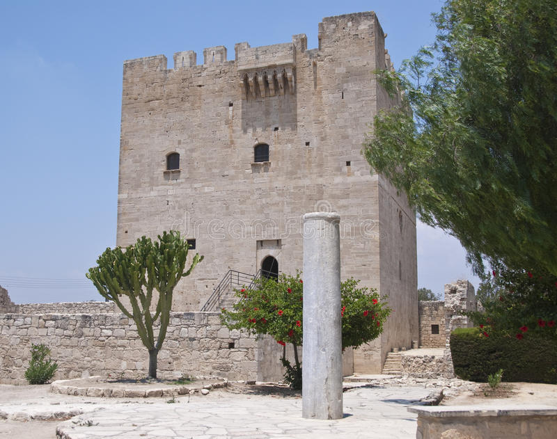 Château de Kolossi, Chypre images libres de droits
