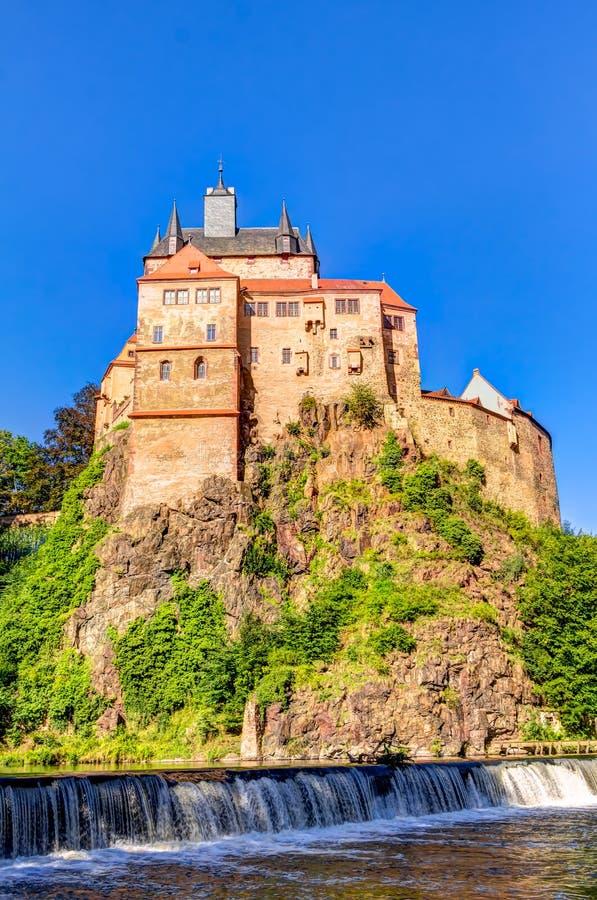 Château de Kriebstein en Saxe, Allemagne photographie stock